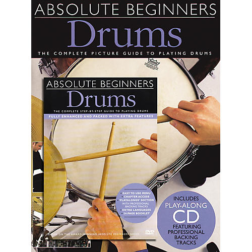 Music Sales Absolute Beginners: Drums (Book/CD/DVD)-thumbnail