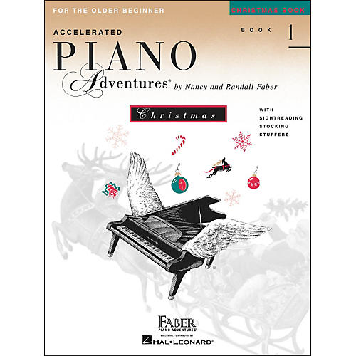 Faber Piano Adventures Accelerated Piano Adventures Christmas Book 1 for The older Beginner - Faber Piano-thumbnail