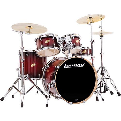 Ludwig Accent CS Custom Fusion Plus 5-Piece Satin Drum Set