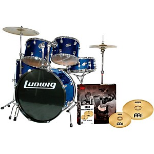 Ludwig Accent Combo 5-piece Drum Set with Meinl Cymbals by Ludwig