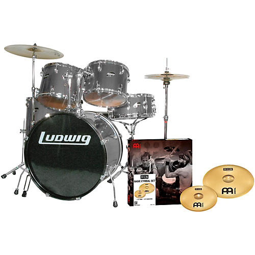 Ludwig Accent Combo 5-piece Drum Set with Meinl Cymbals-thumbnail