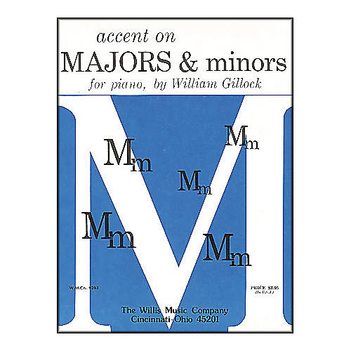 Willis Music Accent On Majors And Minors Early Intermediate Level for Piano by William Gillock-thumbnail