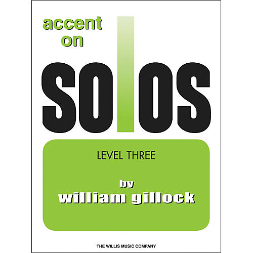 Willis Music Accent On Solos Level Three-thumbnail