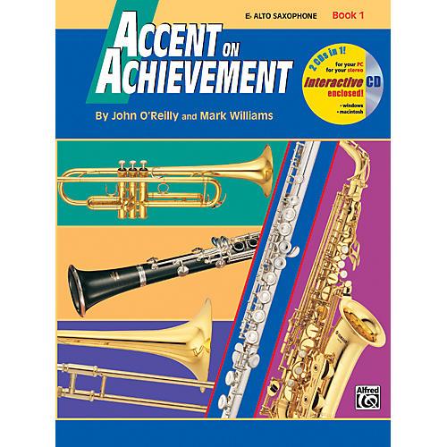 Alfred Accent on Achievement Book 1 Alto Sax Book & CD-thumbnail