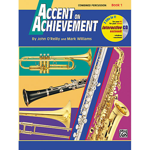 Alfred Accent on Achievement Book 1 Combined PercussionS.D. B.D. Access. & Mallet Percussion Book & CD-thumbnail