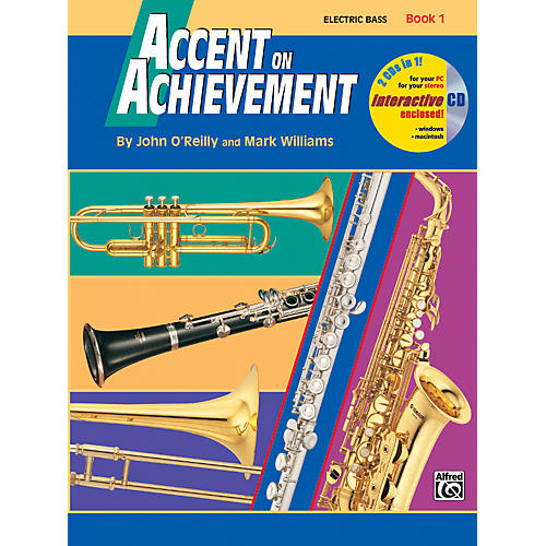 Alfred Accent on Achievement Book 1 Electric Bass Book & CD