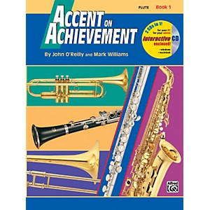 Click here to buy Alfred Accent on Achievement Book 1 Flute Book and CD by Alfred.