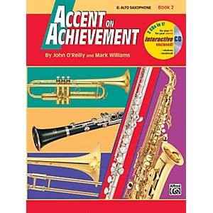Alfred Accent on Achievement Book 2 E-Flat Alto Saxophone Book and CD by Alfred