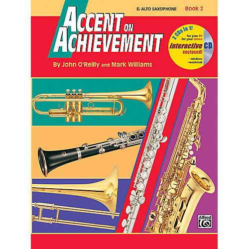 Alfred Accent on Achievement Book 2 E-Flat Alto Saxophone Book & CD-thumbnail