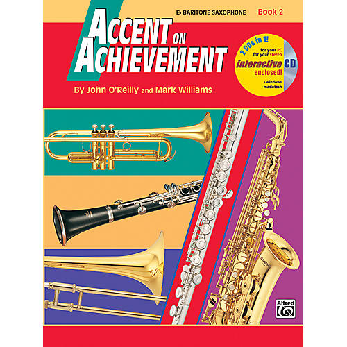 Alfred Accent on Achievement Book 2 E-Flat Baritone Saxophone Book & CD-thumbnail