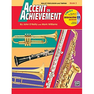Alfred Accent on Achievement Book 2 Mallet Percussion and Timpani Book and CD