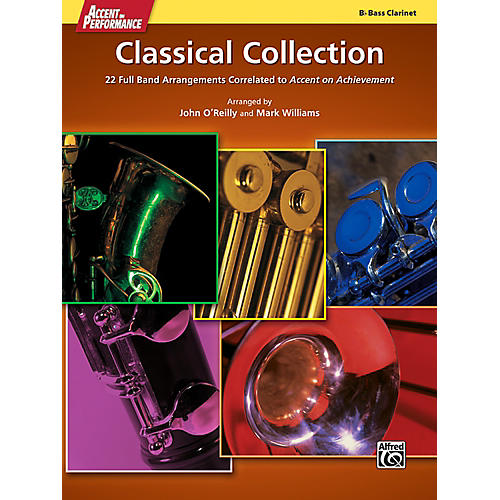 Alfred Accent on Performance Classical Collection Bass Clarinet Book