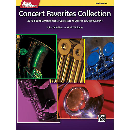 Alfred Accent on Performance Concert Favorites Collection Bari Bass Clef Book