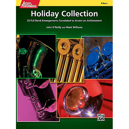 Alfred Accent on Performance Holiday Collection F Horn Book
