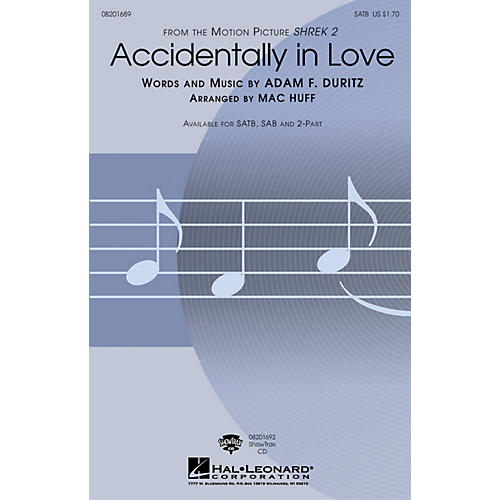 Hal Leonard Accidentally in Love ShowTrax CD Arranged by Mac Huff