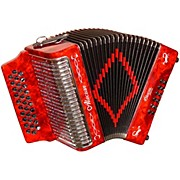 Accordion AL3112 Red with Case