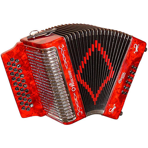 Alacran Accordion AL3112 Red with Case-thumbnail