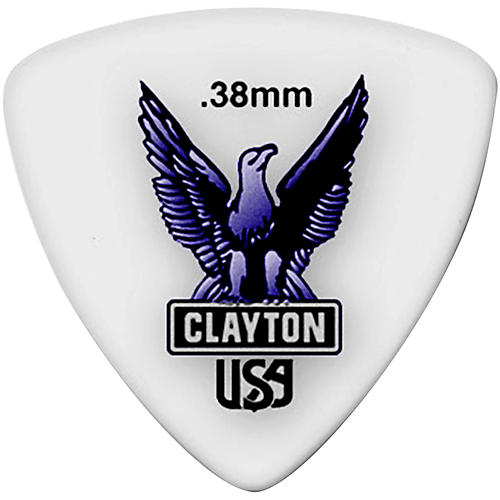 Clayton Acetal Rounded Triangle Guitar Picks-thumbnail