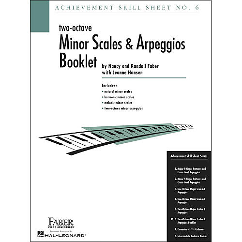 Faber Piano Adventures Achievement Skill Sheet No. 6: Two Octave Minor Scales And Arpeggios - Faber Piano-thumbnail