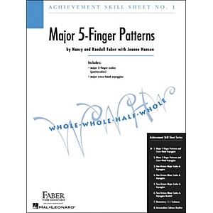 Faber Piano Adventures Achievement Skill Sheet No.1: Major 5-Finger Pattern... by Faber Piano Adventures