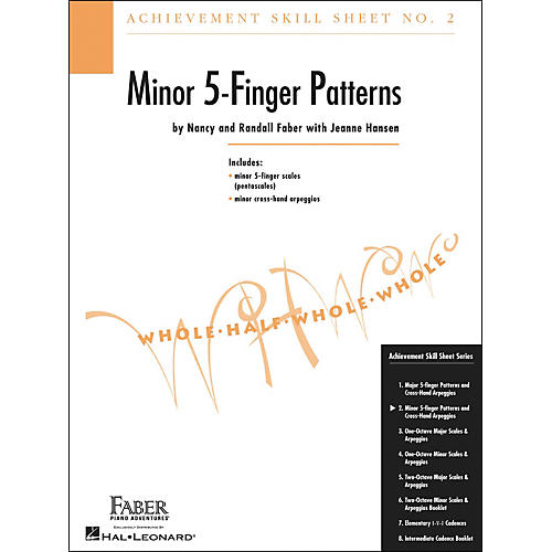 Faber Piano Adventures Achievement Skill Sheet No.2: Minor 5-Finger Patterns - Faber Piano