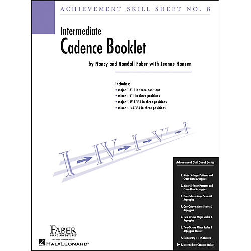 Faber Piano Adventures Achievement Skill Sheet No.8: Cadence Booklet - Faber Piano-thumbnail