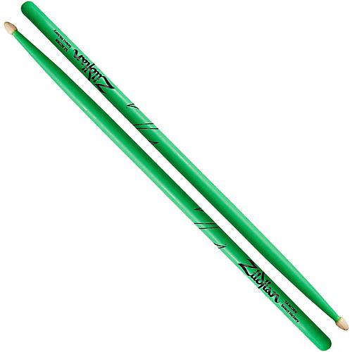 Zildjian Acorn Tip Neon Green Drumsticks-thumbnail