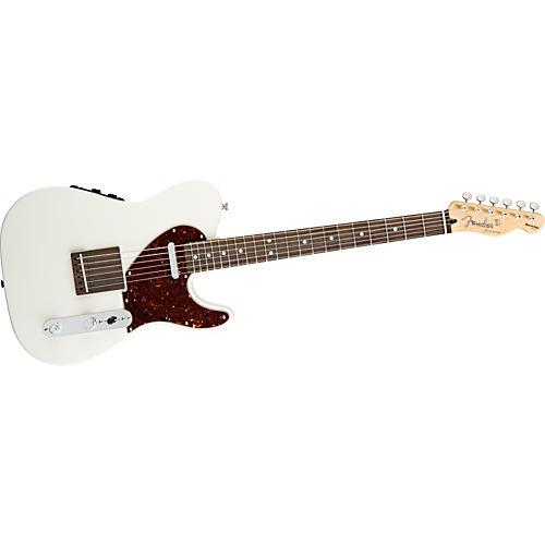 fender acoustasonic telecaster electric guitar olympic white guitar center. Black Bedroom Furniture Sets. Home Design Ideas