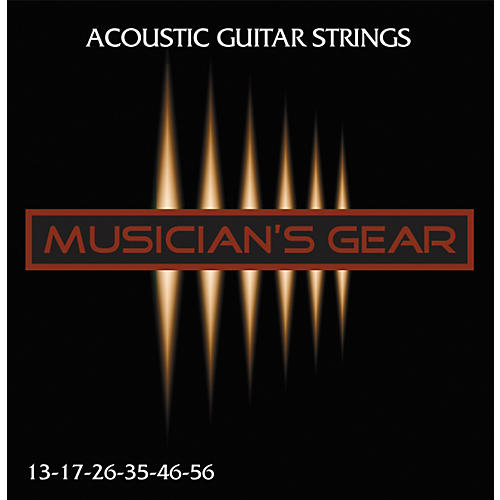 Musician's Gear Acoustic 13 80/20 Bronze Guitar Strings-thumbnail