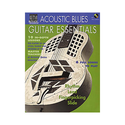 String Letter Publishing Acoustic Blues Guitar Essentials (Book/CD)