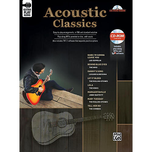Alfred Acoustic Classics Guitar Play-Along Guitar TAB Book & CD-ROM Songbook-thumbnail