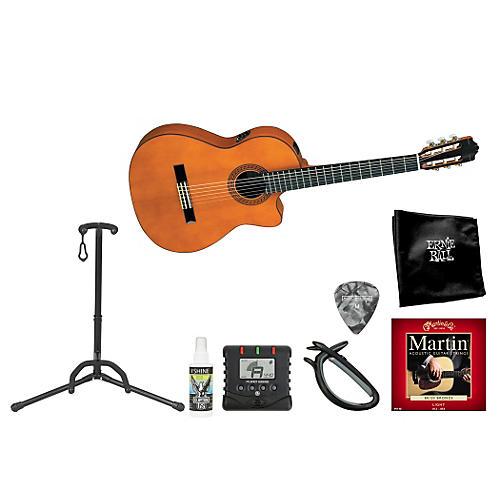 Yamaha Acoustic Electric Nylon String Guitar Bundle