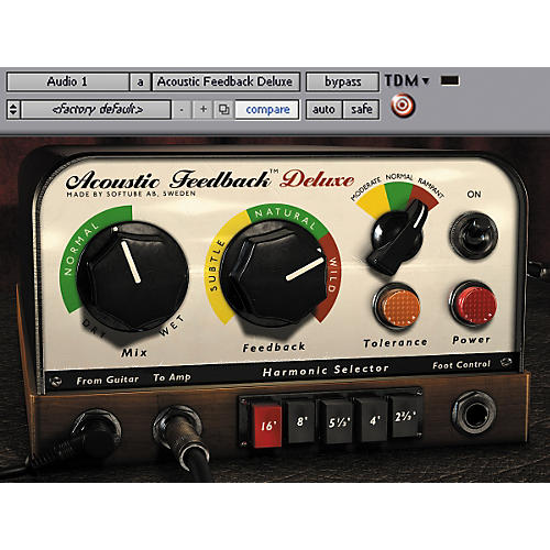 Softube Acoustic Feedback Deluxe Plug-In - Digital Download Digital Download