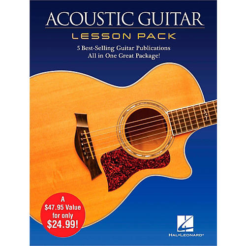 hal leonard acoustic guitar lesson pack boxed set with four books one dvd guitar center. Black Bedroom Furniture Sets. Home Design Ideas