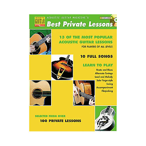 String Letter Publishing Acoustic Guitar Magazine's Best Private Lessons (Book/CD)