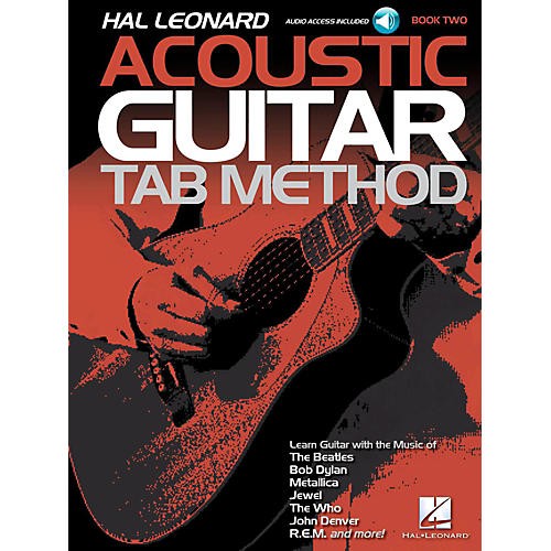 Hal Leonard Acoustic Guitar Tab Method  Book 2 Book/Audio Online