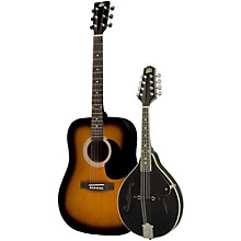 Acoustic Guitar and Mandolin Pack Sunburst Black