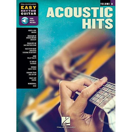 Hal Leonard Acoustic Hits - Easy Rhythm Guitar Series Volume 14 Book/Audio Online-thumbnail