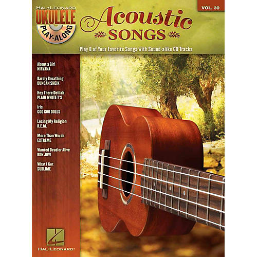 Hal Leonard Acoustic Songs - Ukulele Play-Along Vol. 30 Book/CD-thumbnail