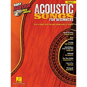 hal leonard acoustic songs for beginners easy guitar play along volume 8 book cd guitar center. Black Bedroom Furniture Sets. Home Design Ideas