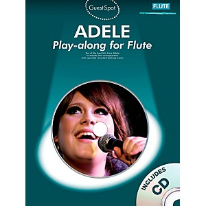 Music Sales Adele Play-along for Flute Book/CD