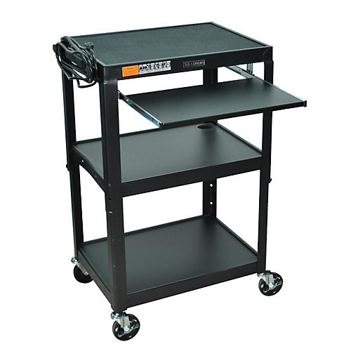 H. Wilson Adjustable Height Cart with Keyboard Tray-thumbnail