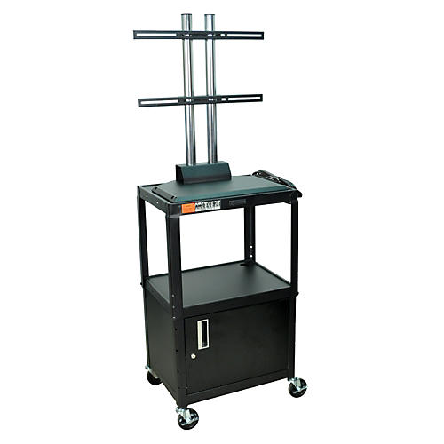 H. Wilson Adjustable Height LCD Cart with Locking Cabinet-thumbnail