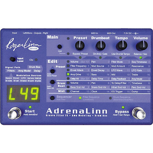 Roger Linn Design AdrenaLinn Guitar Groove Box