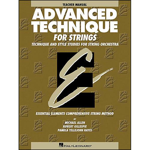 Hal Leonard Advanced Technique Teacher's Manual for Strings-thumbnail