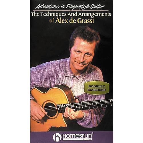 Homespun Adventures in Fingerstyle Guitar - Alex de Grassi (VHS)-thumbnail