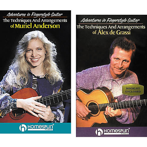 Homespun Adventures in Fingerstyle Guitar 2-Video Set (VHS)