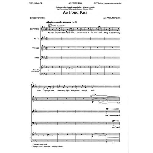 Novello Ae Fond Kiss SATB Divisi Composed by Paul Mealor