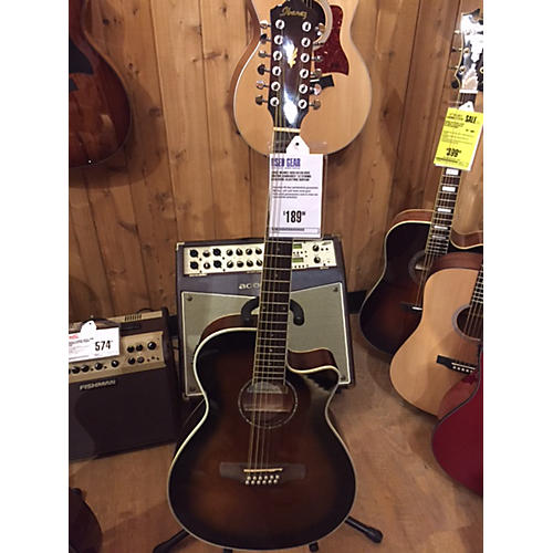 used ibanez aeg1812ii dvs 12 string acoustic electric guitar guitar center. Black Bedroom Furniture Sets. Home Design Ideas