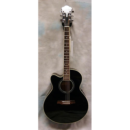 Ibanez Ael10le Black Acoustic Electric Guitar-thumbnail